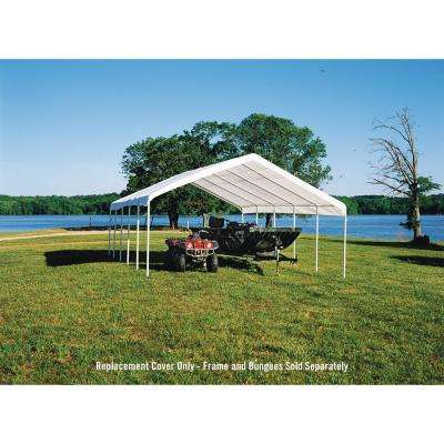 18 ft. W x 30 ft. D x 10 ft. H SuperMax Fire-Rated Canopy Replacement Cover (for 2 in. Frame) in White