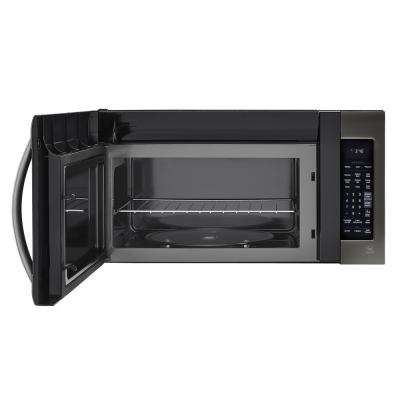 2.0 cu. ft. Over the Range Microwave in Black Stainless Steel with EasyClean and Sensor Cook