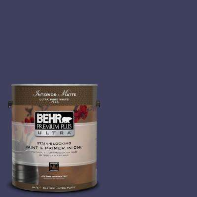 Home Decorators Collection 1 gal. #HDC-MD-01 Majestic Blue Flat/Matte Interior Paint