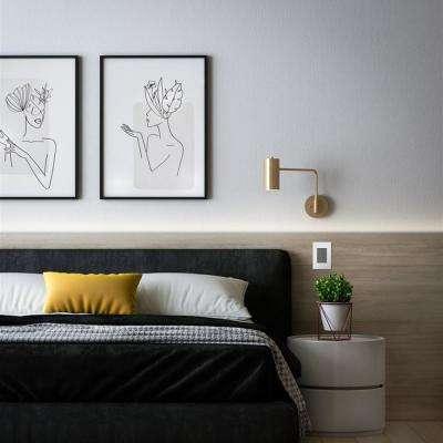adorne 1 Gang Plus Decorator/Rocker Wall Plate, Gloss White (1-Pack)