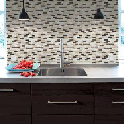 Murano Dune 10.20 in. x 9.10 in. Peel and Stick Decorative Wall Tile Backsplash in Beige (12-Pack)