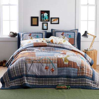 Forest Campers Cotton Patchwork Quilt