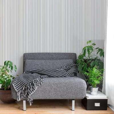 56.4 sq. ft. Martinez Cream Striped Wallpaper