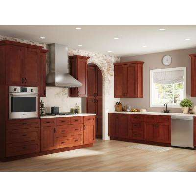Kingsbridge Assembled 24x90x24 in. Pantry/Utility 2 Double Door Kitchen Cabinet in Cabernet