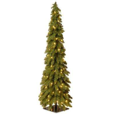 4 ft. Downswept Forestree Artificial Christmas Tree with Clear Lights