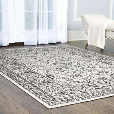 Patio Country Gray/Black 7 ft. 9 in. x 10 ft. 2 in. Indoor/Outdoor Area Rug