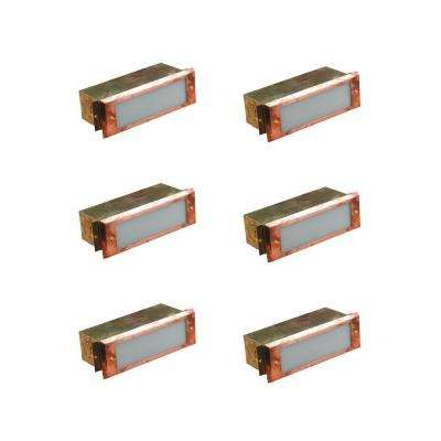 1-Light Outdoor Raw Copper Step Light (6-Pack)