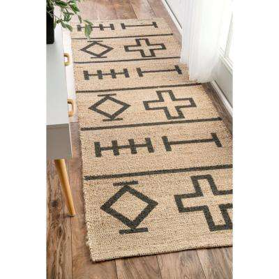 Barry Natural 3 ft. x 8 ft. Runner Rug