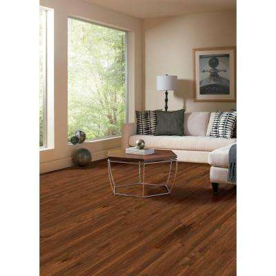 Hand Scraped Birch Bronze 3/8 in. T x 4-3/4 in. W x Varying Length Click Lock Hardwood Flooring (24.94 sq. ft. /case)