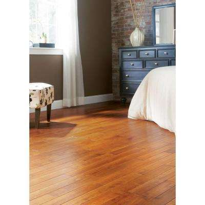 Hand Scraped Maple Sedona 3/8 in. T x 3-1/2 in. W x Varying Length Click Lock Hardwood Flooring (20.71 sq. ft. / case)