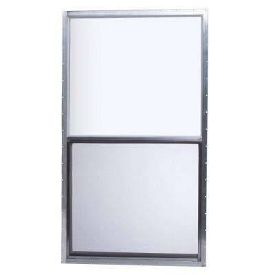 30 in. x 54 in. Mobile Home Single Hung Aluminum Window - Silver