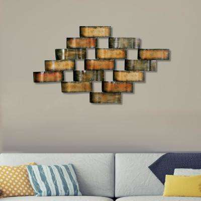Multicolored Wavy Metal Work Wall Decor