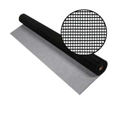 42 in. x 100 ft. Black Aluminum Screen