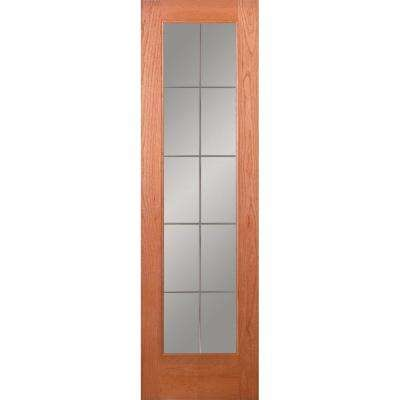 Clear Red Oak Ready To Stain No Panel Interior Closet Doors