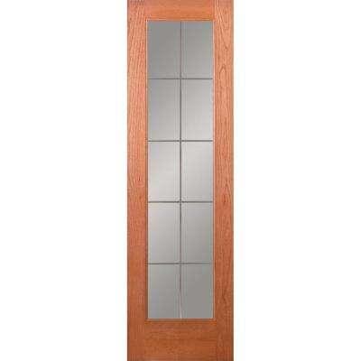 24 x 80 unfinished 10 lite slab doors interior closet 10 lite illusions woodgrain unfinished cherry interior door slab planetlyrics Image collections