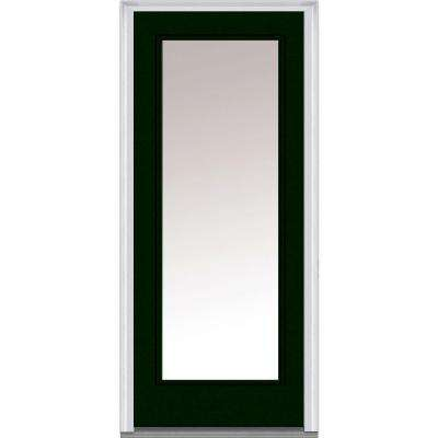 Clear Glass Full Lite Painted Majestic Steel Prehung Front Door
