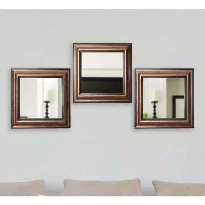 21.5 in. x 21.5 in. Canyon Bronze Square Wall Mirrors (Set of 3)