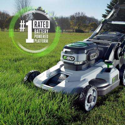 21 in. 56V Lithium-Ion Cordless Electric Walk Behind Push Mower, 5.0 Ah Battery and Charger Included