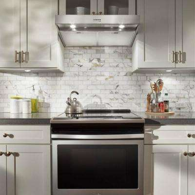 24 in. Convertible Under Cabinet Range Hood in Stainless Steel with Full-Width Grease Filters