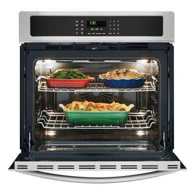 27 in. Single Electric Wall Oven Self-Cleaning with Convection in Stainless Steel