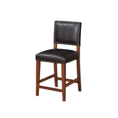Brook 24 in. Black Cushioned Bar Stool