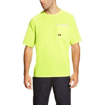 Men's Lime Rebar Sunstopper Short Sleeve Work Shirt