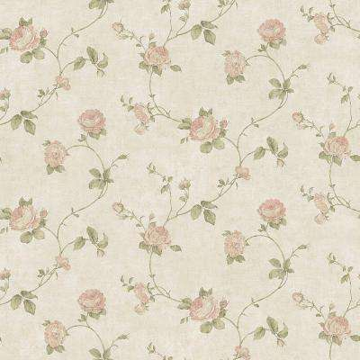 Darby Rose Blush Trail Wallpaper