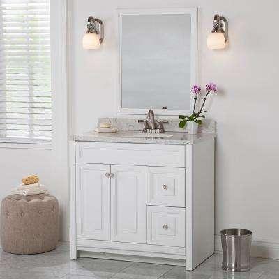 Brinkhill 36 in. W x 34 in. H x 22 in. D Bath Vanity Cabinet Only in White