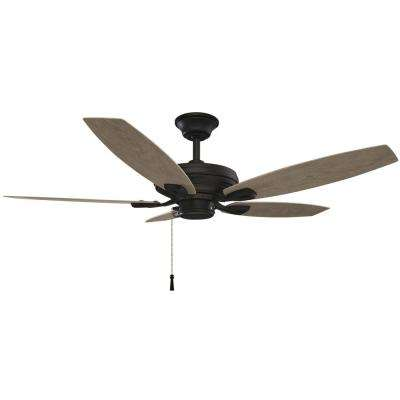 52 in. North Pond Outdoor Matte Black Ceiling Fan