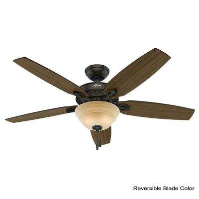 Heathrow 52 in. LED Indoor New Bronze Ceiling Fan