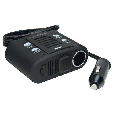 100-Watt DC to AC Power Inverter with USB Input and 12-Volt Port, Black