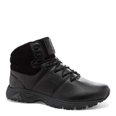 Memory Breach Men Black Synthetic Soft Toe Work Boot