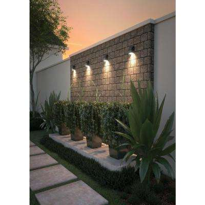 Neutrino 1-Light Bronze Outdoor 6 in. Integrated LED Wall Mount Sconce