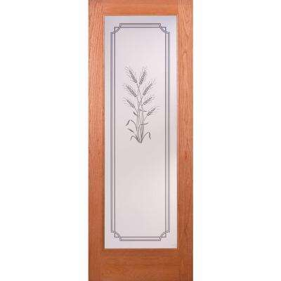 Harvest Woodgrain 1 Lite Unfinished Cherry Interior Door Slab