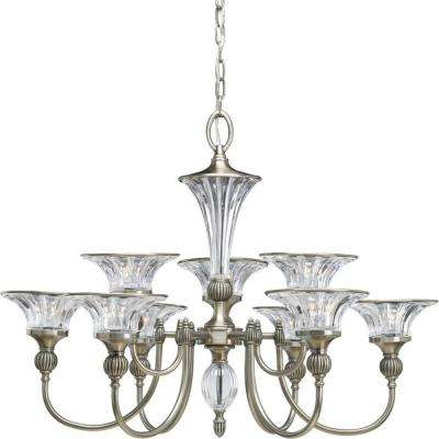 Roxbury Collection 9-Light Classic Silver Chandelier