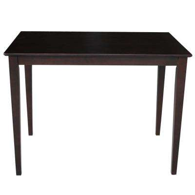 4 ft. Rectangular Counter Height Table in Rich Mocha