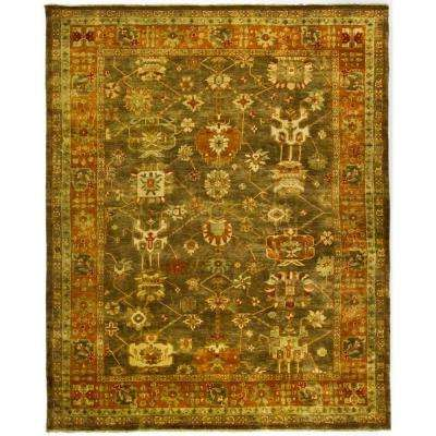 Oushak Brown/Rust 9 ft. x 12 ft. Area Rug