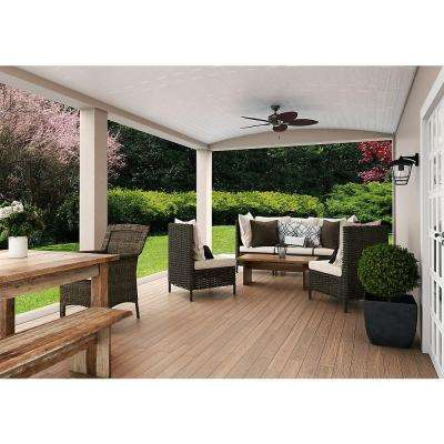 Bayview 54 in. Indoor/Outdoor Outdoor Provencal Gold Ceiling Fan