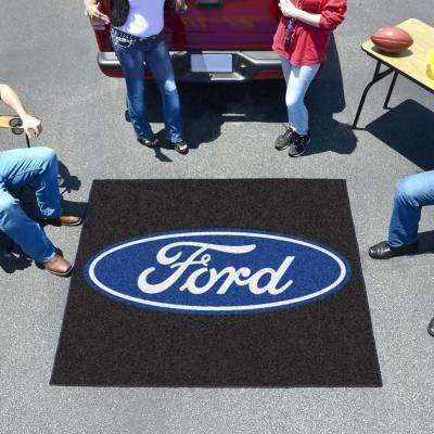 Ford Oval Black 4 ft. x 5 ft. Indoor/Outdoor Tailgater Mat