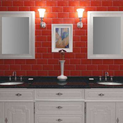 Projectos Vermelho Matte 3-7/8 in. x 7-3/4 in. Ceramic Floor and Wall Tile (11.46 sq. ft. / case)