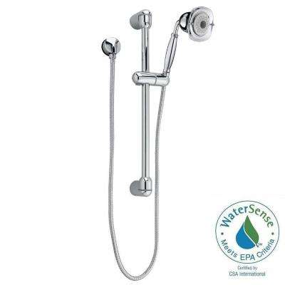 FloWise Square Transitional 3-Spray Wall Bar Shower Kit in Polished Chrome