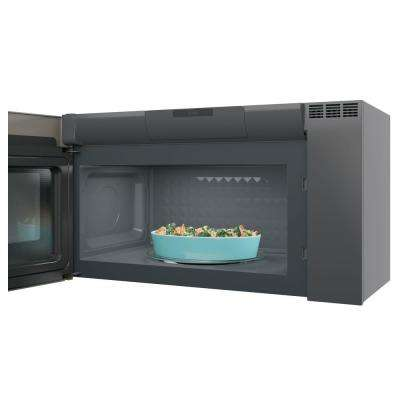 Profile 2.1 cu. ft. Over the Range Microwave in Black Stainless Steel with Sensor Cooking, Fingerprint Resistant
