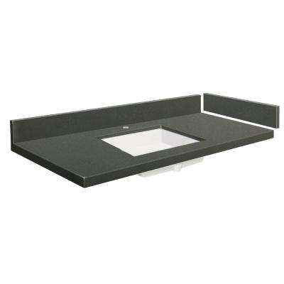 60.5 in. - 61.5 in. W x 22.25 in. D Quartz Vanity Top