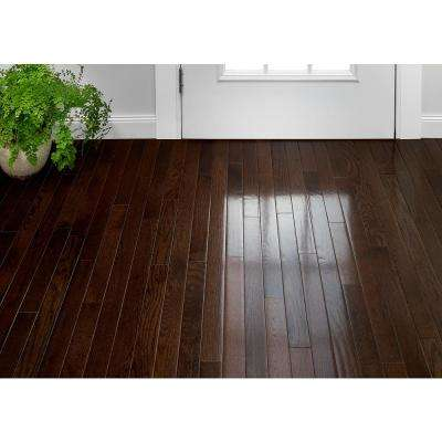 Plano Oak Mocha 3/4 in. Thick x 2-1/4 in. Wide x Varying Length Solid Hardwood Flooring (20 sq. ft. / case)