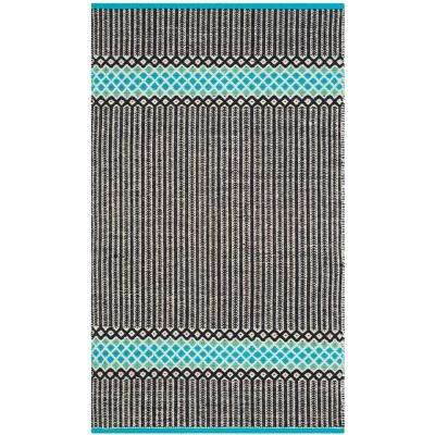 Montauk Turquoise/Multi 2 ft. 3 in. x 3 ft. 9 in. Area Rug