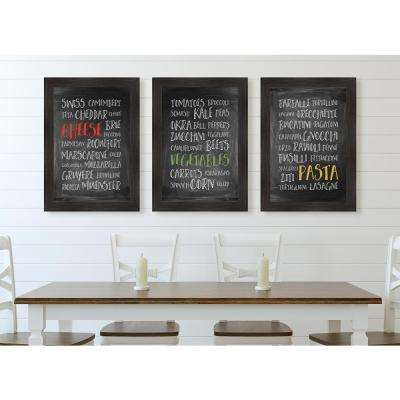 "35 in. x 25 in. ""Veggie Tray"" Framed Giclee Print Wall Art"