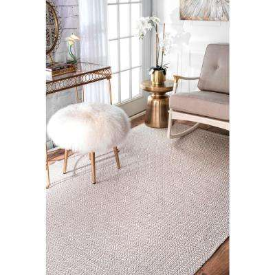 Diamond Cotton Check Taupe 3 ft. x 8 ft. Runner Rug