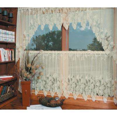 Woodland 60 in. L Polyester Valance in Ecru