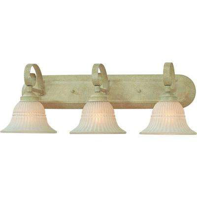 3-Light Golden Coral Bath and Vanity Light
