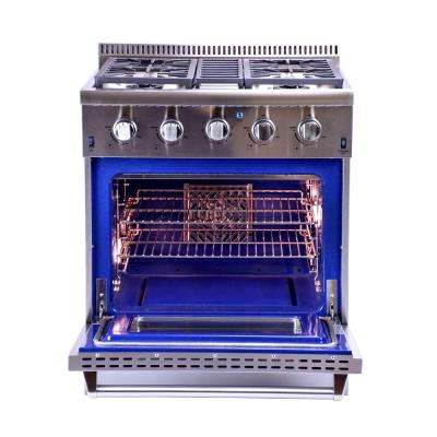 30 in. 4.2 cu. ft. Professional Convection Gas Range in Stainless Steel